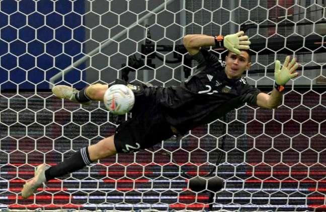 Martínez foi decisivo para Argentina chegar à final da Copa América (NELSON ALMEIDA / AFP)