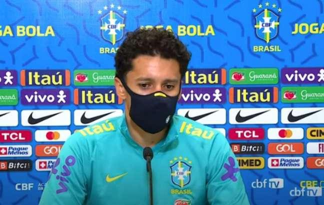 'É competitividade, a gente vai brigar pelo nosso', disse Marquinhos (Reprodução / CBF TV)