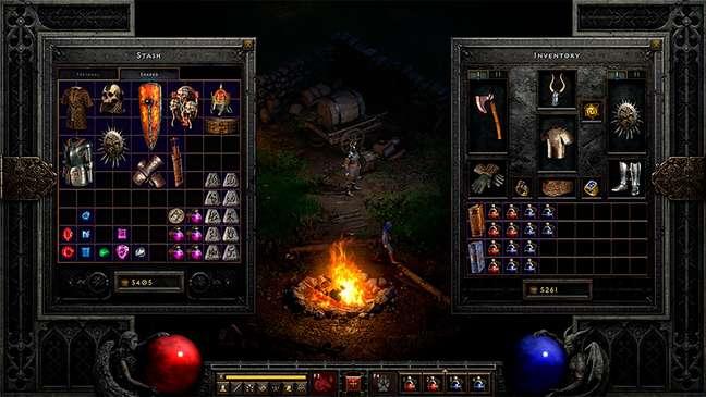 Inventário em Diablo II Resurrected