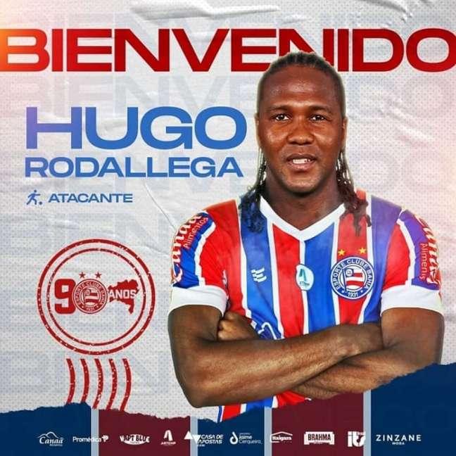 Atacante tem 44 partidas e oito gols na seleção colombiana (Divulgação/Bahia)
