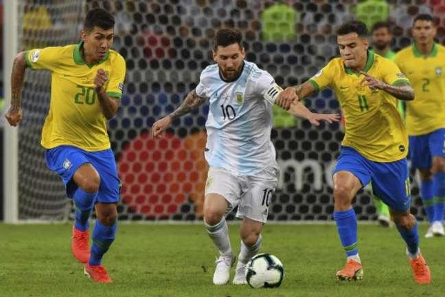 Na semifinal da Copa América de 2019, o Brasil derrotou a Argentina por 2 a 0 no Mineirão (Nelson ALMEIDA / AFP)