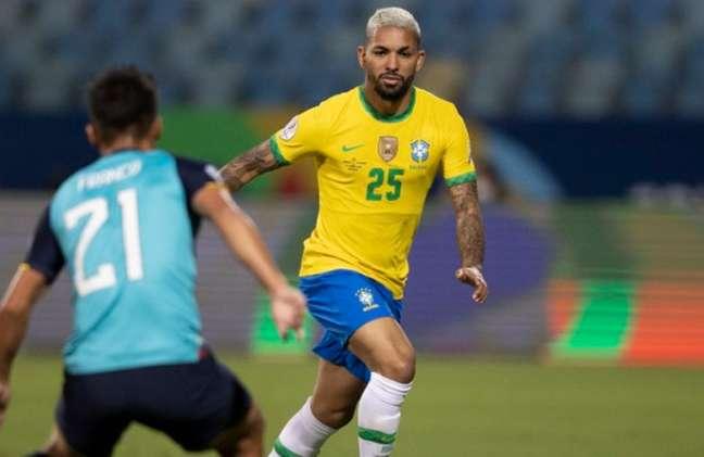 Douglas Luiz continuará utilizando a camisa 25 na final da Copa América (Foto: Lucas Figueiredo/CBF)