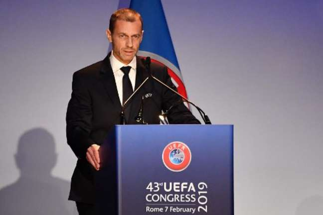 Aleksander Ceferin, presidente da Uefa, é contra mudança na Copa do Mundo (Foto: Andreas Solaro / AFP)