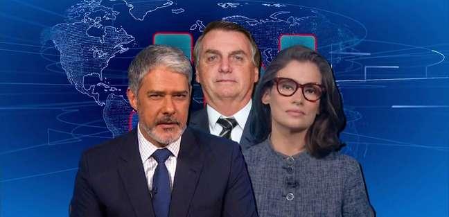 Atacado pelo presidente, 'JN' é o grande amplificador de notícias negativas sobre Bolsonaro