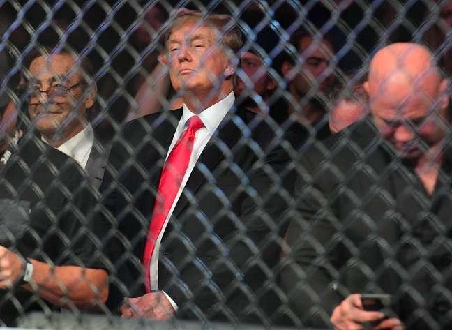 Ex-presidente Donald Trump assistiu à luta