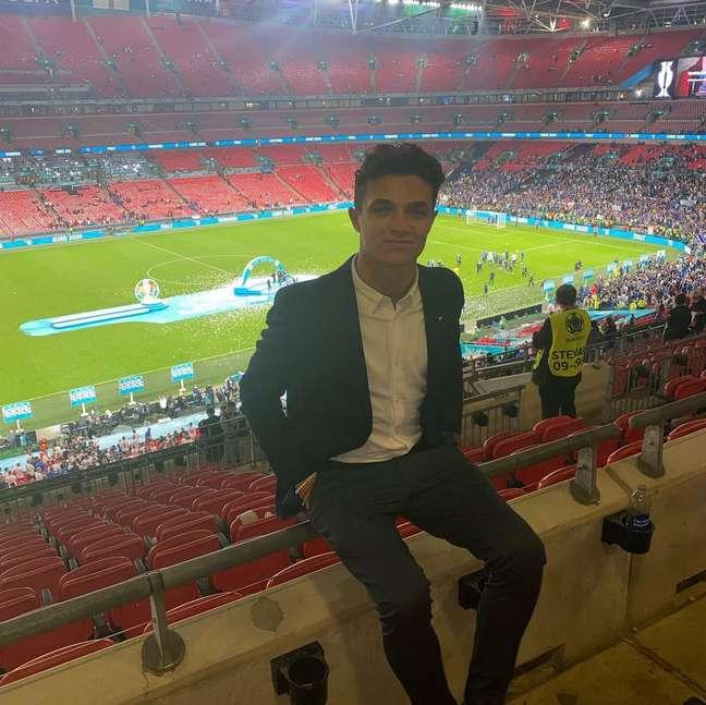 Lando Norris esteve na final da Eurocopa, em Wembley