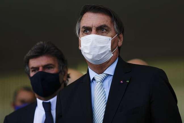 Bolsonaro e Luiz Fux em Brasília  24/3/2021   REUTERS/Ueslei Marcelino