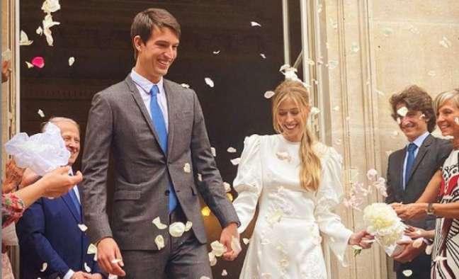 A elegância da simplicidade: Alexandre e Géraldine tiveram um casamento comum, sem a ostentação exibida por celebridades