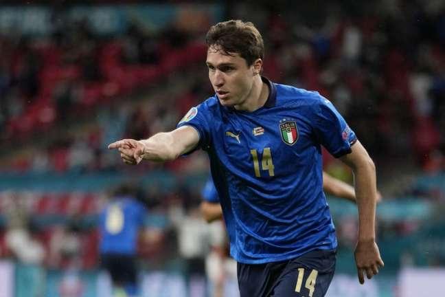 Chiesa foi destaque da Itália na Eurocopa (Foto: FRANK AUGSTEIN / POOL / AFP)