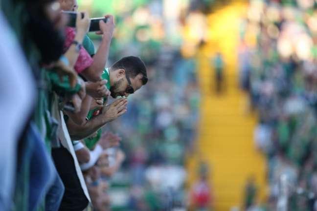 Torcedores da Chape na Arena Condá (Foto: Sirli Freitas/Chapecoense)