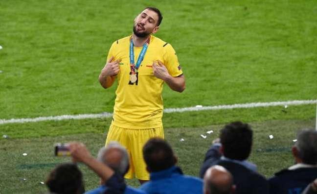 Donnarumma foi o herói da Itália na disputa de pênaltis contra a Inglaterra