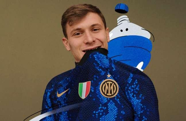 Nova camisa da Inter lembra a pele de uma serpente (Foto: Divulgação)