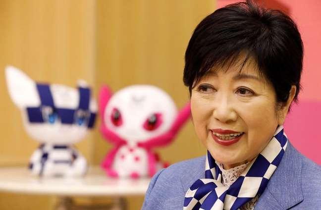 Governadora de Tóquio, Yuriko Koike, durante entrevista à Reuters  13/07/2021 REUTERS/Kim Kyung-Hoon