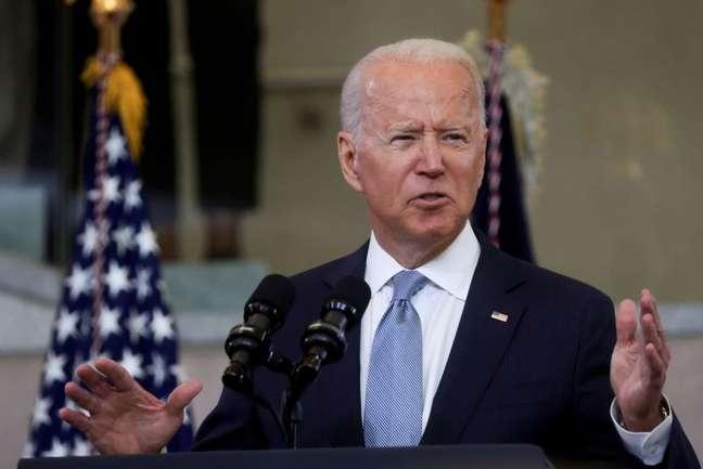 Biden faz discurso na Filadélfia  13/7/2021   REUTERS/Leah Millis