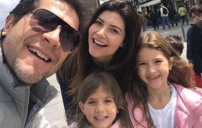 Daniel e Aline já são pais de Luíza e Lara