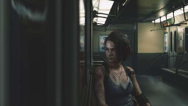 Esta cena da heroína de Resident Evil 3, Jill Valentine, sentada em um vagão de trem, remete aos deslocamentos diários da população para o trabalho