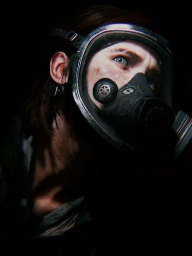 A foto de Reims da heroína de 'The Last of Us 2' usando uma máscara de gás refletiu a escuridão que ela sentiu após a morte do pai