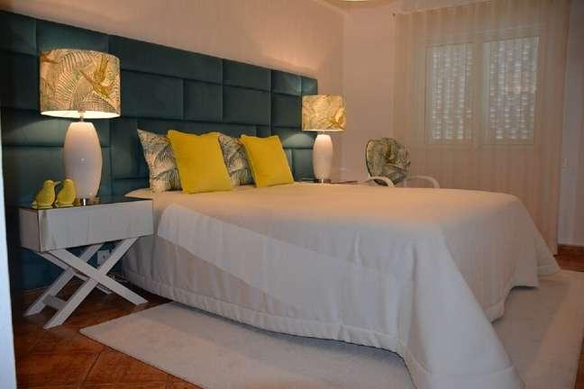 7. Cabeceira estofada para decoração de quarto de casal – Foto: habitissimo