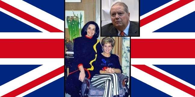 A embaixatriz Lúcia com Diana em festa natalina; no destaque, o embaixador Paulo Tarso: amizade à prova de fofocas