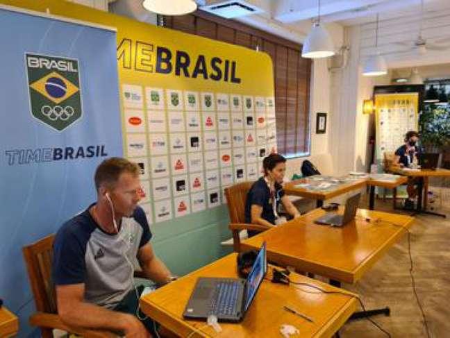 Robert Scheidt e Fernanda Oliveira são as vozes da experiência do Brasil (Foto: Daniel Varsano/COB)
