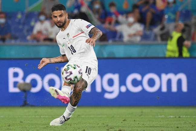 Insigne foi titular na campanha da Itália na Eurocopa (Foto: ALBERTO LINGRIA / POOL / AFP)