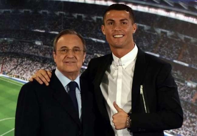 Florentino Pérez detonou Cristiano Ronaldo em 2012 (Foto: AFP)