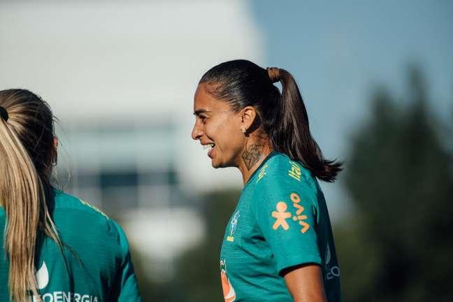Andressa Alves durante treino da Seleção Feminina Sam Robles/CBF