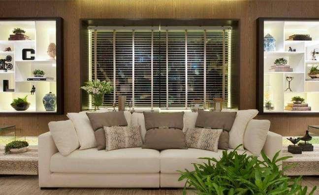 45. persiana preta para sala de estar – Foto quitete faria