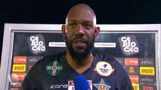 Arqueiro teve como última equipe a Portuguesa-RJ (Reprodução/Cariocão TV)