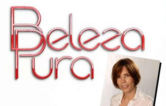 A autora Andréa Maltarolli e a logomarca de sua única novela solo na Globo