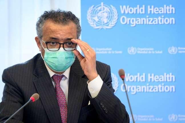 Diretor-geral da OMS, Tedros Adhanom Ghebreyesus  Laurent Gillieron/Pool via REUTERS