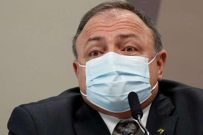 Ex-ministro da Saúde Eduardo Pazuello 20/05/2021 REUTERS/Adriano Machado