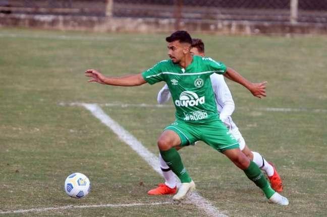 Atleta esteve por quase 75 minutos em campo contra o Bahia (Divulgação/Chapecoense)