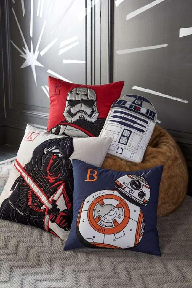 53. Almofadas do star wars para decoraçaõ geek – Foto Tecnisa