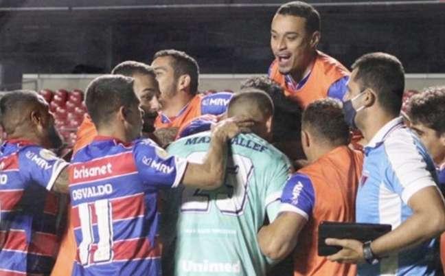 Fortaleza venceu o São Paulo por 1 a 0 (Foto: Reprodução/ Twitter)