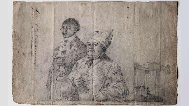 Augustus van Bengalen segurando o cachimbo de Hendrik Cloete — a exposição foca no lado social da escravidão para contar histórias de pessoas reais