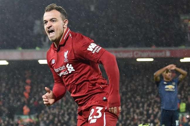 Shaqiri é um dos nomes que podem deixar o Liverpool nesta janela de transferências (Foto: AFP)