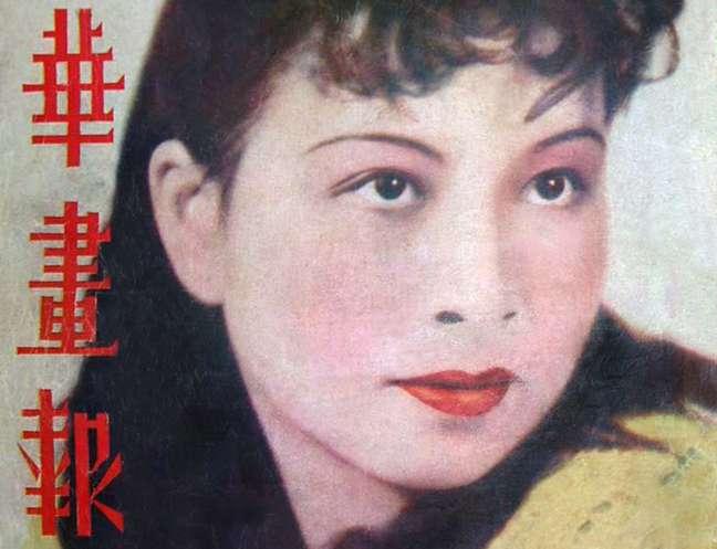Jiang Qing na capa de uma revista de cinema dos anos 1930, quando era uma atriz chamada Lan Ping