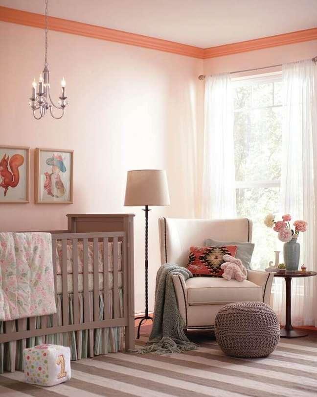 19. Dicas de decoração para quarto de bebê feminino em tons de rosa – Foto: Home Fashion Trend