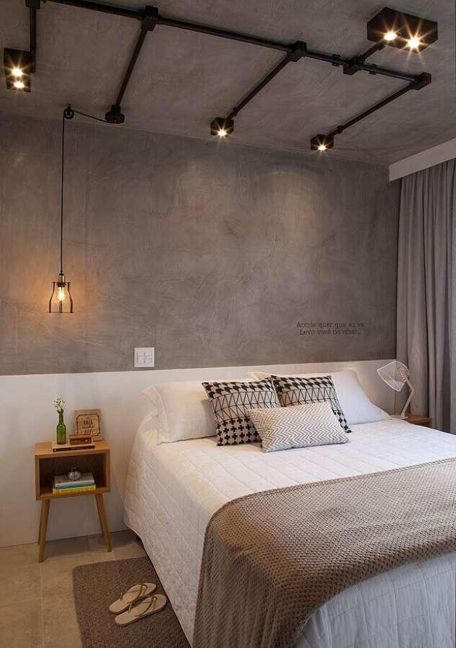 33. Dicas de decoração para quarto de casal com estilo industrial – Foto: Bruno Moraes Arquitetura