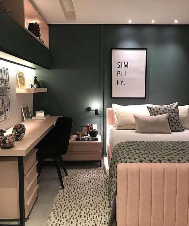 47. Dicas de decoração para quartos femininos cinza e rosa – Foto: Apartment Therapy