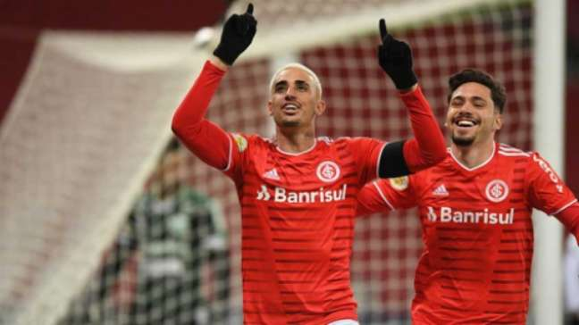 Galhardo fez o gol da vitória (Foto: Ricardo Duarte / Internacional)