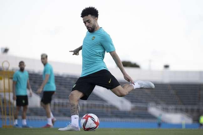 Claudinho durante treino do Brasil no Japão antes da estreia na Olimpíada Lucas Figueiredo/CBF