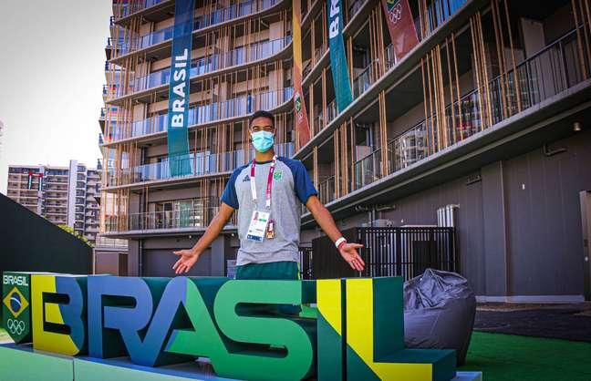 Ygor Coelho, do Badminton, já está instalado para a Olimpíada Mônica Faria/COB