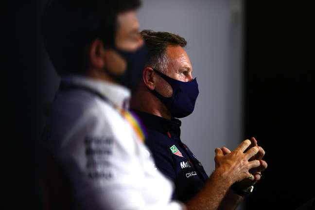 Toto Wolff e Christian Horner em mais um capítulo da troca incessante de farpas na F1