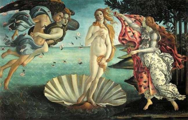 'O Nascimento da Vênus', obra-prima de Sandro Botticelli
