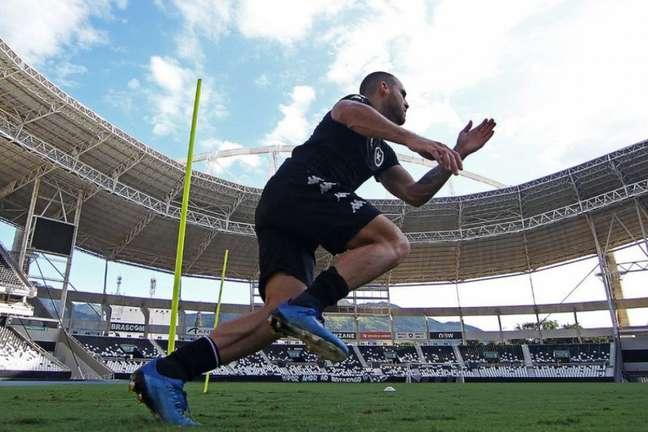 Pedro Castro não estará disponível para o jogo do próximo sábado (Divulgação/Botafogo)
