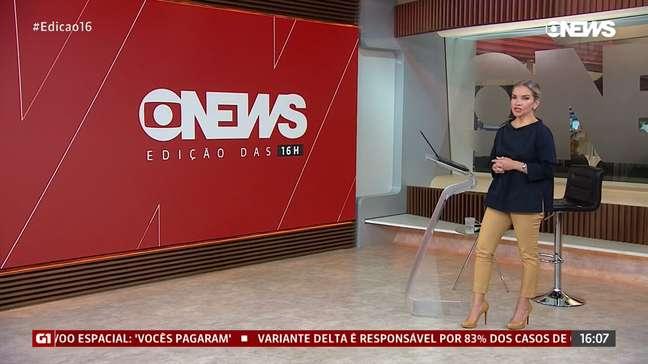 Experiente, LeilaSterenbergmanteve a calma durante a sequência de problemas técnicos no telejornal