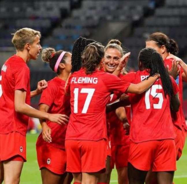 Seleção do Canadá empatou com Japão na estreia do futebol feminino na Olimpíada de Tóquio (Divulgação/Canadá)
