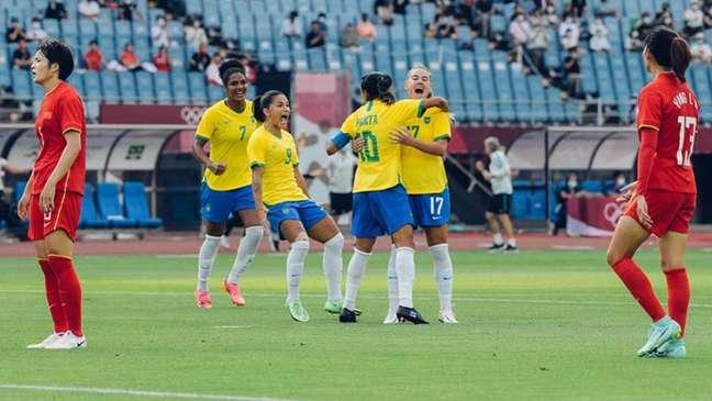 Brasil passou o carro na China e agora enfrenta a Holanda (Foto: Sam Robles/CBF)